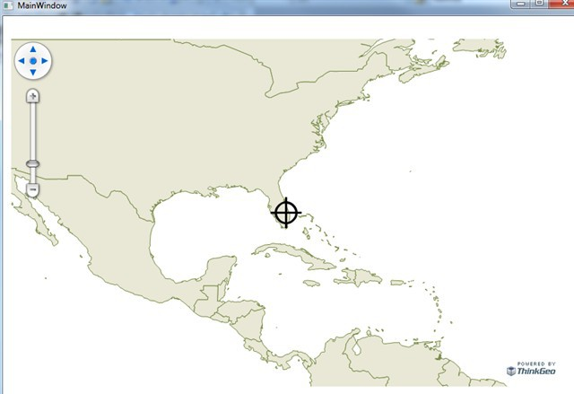 Draw Static Circle and Cross Hairs on Map - WPF - ThinkGeo